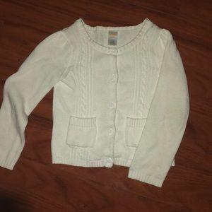 Little girls white cardigan
